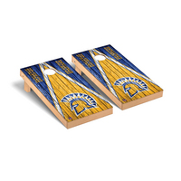 San Jose State Spartans Regulation Cornhole Game Set Triangle Weathered Version