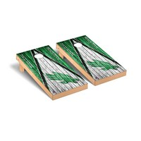 North Texas Mean Green Regulation Cornhole Game Set Triangle Weathered Version