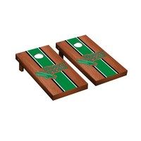 North Texas Mean Green Regulation Cornhole Game Set Rosewood Stained Stripe Version