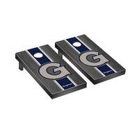 Georgetown Hoyas Regulation Cornhole Game Set Onyx Stained Stripe Version