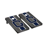 College Vault Georgetown Hoyas Regulation Cornhole Game Set Onyx Stained Stripe Version