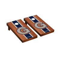 Georgetown Hoyas Regulation Cornhole Game Set Rosewood Stained Stripe Version