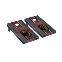 University of Montana Grizzlies Regulation Cornhole Game Set Onyx Stained Striped Wooden