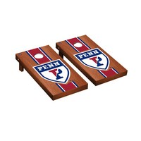 University of Pennsylvania Penn Quakers Rosewood Regulation Cornhole Game Set Stained Striped Wooden