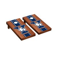 Yale Bulldogs Regulation Cornhole Game Set Rosewood Stained Stripe Version