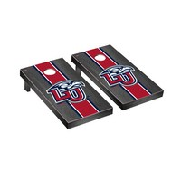 Liberty Flames Regulation Cornhole Game Set Onyx Stained Stripe Version