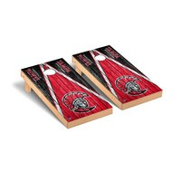 University of Tampa Spartans Regulation Cornhole Game Set Weathered Triangle Version