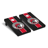 University of Tampa Spartans Regulation Cornhole Game Set Onyx Stained Stripe Version