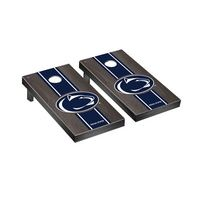 Penn State PSU Nittany Lions Regulation Cornhole Game Set Onyx Stained Stripe Version