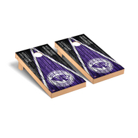 High Point Panthers Regulation Cornhole Game Set Triangle Weathered Version