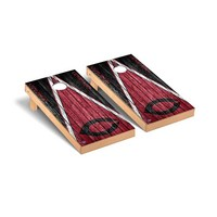 Chicago Maroons Regulation Cornhole Game Set Triangle Weathered Version
