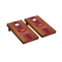 University of Chicago Maroons Regulation Cornhole Game Set Rosewood Stained Stripe Version