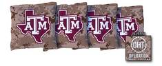 Texas A&M University Aggies Regulation All Weather Cornhole Bags 4 Sand OHT Design