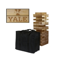 Yale University Bulldogs Wooden Tumble Tower Game