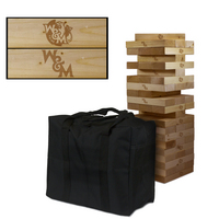 William & Mary Tribe Wooden Tumble Tower Game
