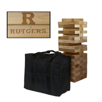 Rutgers University Scarlet Knights Giant Wooden Tumble Tower Game