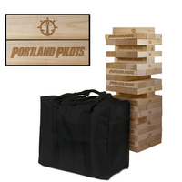 Portland Pilots Giant Wooden Tumble Tower Game