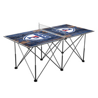 Pennsylvania Quakers Pop Up Table Tennis 6ft Weathered Design