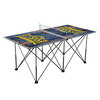 Drexel University Dragons Pop Up Table Tennis 6ft Weathered Design