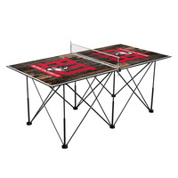 Boston University Terriers Pop Up Table Tennis 6ft Weathered Design