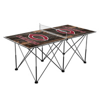 University of Chicago Maroons Pop Up Table Tennis 6ft Weathered Design