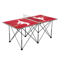 Southern Methodist University Mustangs SMU Pop Up Table Tennis 6ft Weathered Design