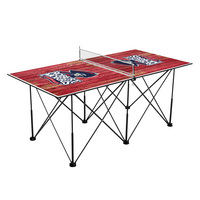 Robert Morris University Colonials Pop Up Table Tennis 6ft Weathered Design