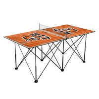 Rochester Institute of Technology Tigers Pop Up Table Tennis 6ft Weathered Design