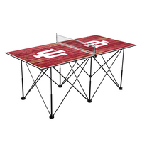 Indiana University Hoosiers Pop Up Table Tennis 6ft Weathered Design