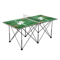 North Texas Mean Green Pop Up Table Tennis 6ft Weathered Design