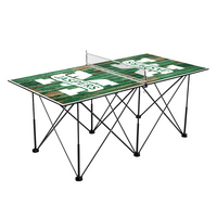 Manhattan College Jaspers Pop Up Table Tennis 6ft Weathered Design