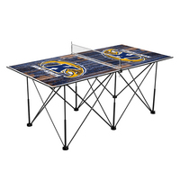 Kent State Golden Flashes Pop Up Table Tennis 6ft Weathered Design