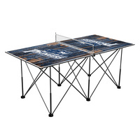 Marietta College Pioneers Pop Up Table Tennis 6ft Weathered Design