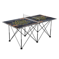 University of California Irvine Anteaters Pop Up Table Tennis 6ft Weathered Design