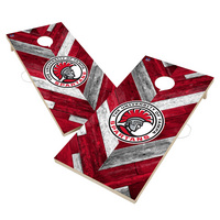 Tampa Spartans Solid Wood 2x4 Cornhole Board Set Herringbone Design
