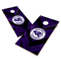 High Point HPU Panthers Solid Wood 2x4 Cornhole Board Set Herringbone Design