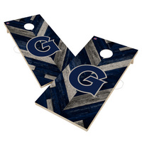 Georgetown Hoyas Solid Wood 2x4 Cornhole Board Set Herringbone Design