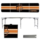 Campbell University Fighting Camel 8 Foot Portable Folding Tailgate Table Stripe Version