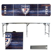Pennsylvania Quakers 8 Foot Portable Folding Tailgate Table Weathered Version