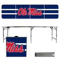 University of Mississippi Stripe 8 Foot Folding Tailgate Table