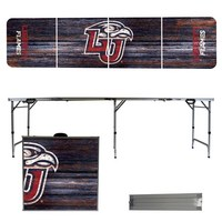 Liberty University Flames 8 Foot Portable Folding Tailgate Table Weathered Version