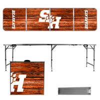 Sam Houston State 8 Foot Portable Folding Tailgate Table Weathered Version