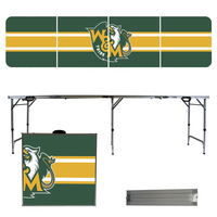 College of William & Mary Stripe 8 Foot Folding Tailgate Table