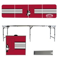 Boston University Terriers 8 Foot Portable Folding Tailgate Table Stripe Version