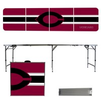 Chicago Maroons University of  8 Foot Portable Folding Tailgate Table Stripe Version
