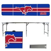 Southern Methodist University Mustangs SMU 8 Foot Portable Folding Tailgate Table Stripe Version