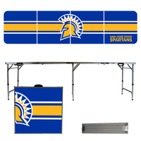 San Jose State University Spartans 8 Foot Portable Folding Tailgate Table Stripe Version