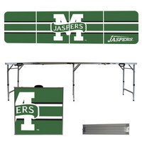 Manhattan College Jaspers 8 Foot Portable Folding Tailgate Table Stripe Version