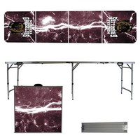 Montana Grizzlies 8 Foot Portable Folding Tailgate Table Lightning Version