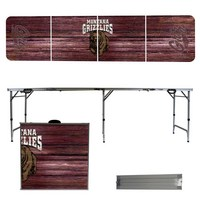 Montana Grizzlies 8 Foot Portable Folding Tailgate Table Weathered Version